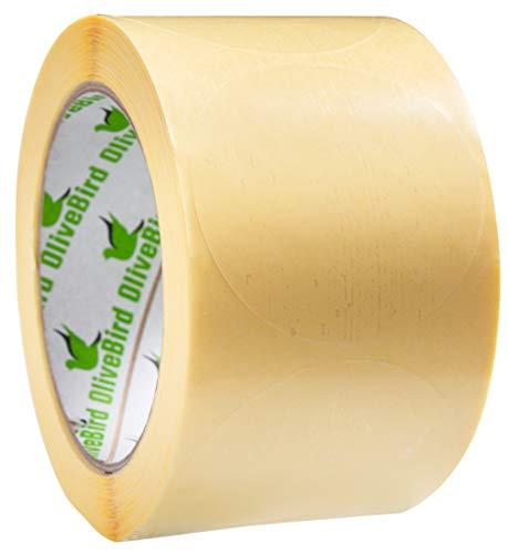 500 Klebepunkte Transparent Rund Etiketten Größe 6 cm Durchmesser / 60mm Rollen von 500 Stück Aufkleber