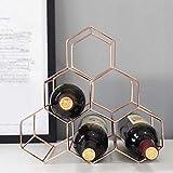 PYROJEWEL Nordic geométrica Simple Estante del Vino del Metal del hogar de la UVA de Vino en Rack Restaurante Sala Bar gabinete del Vino Vino Displa