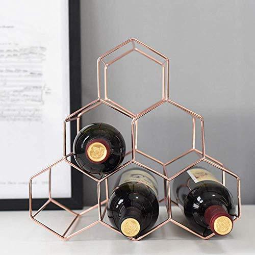 BXU-BG Nordic geométrica simple estante del vino del metal del hogar de la uva de vino en rack Restaurante Sala Bar gabinete del vino Vino Displa