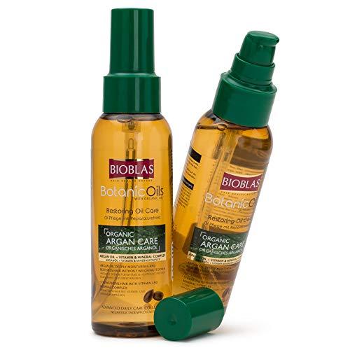 Bioblas Argan Care, organisches Arganöl für Haarel mit Vitamin & Mineralkomplex