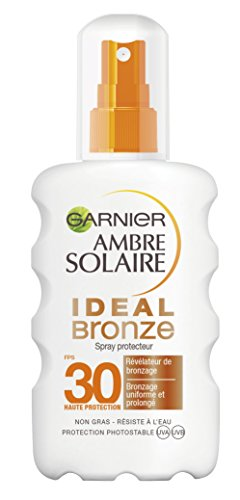Garnier Ambre Solaire - Ideal Bronze - Spray Solaire Protecteur - Révélateur de Bronzage - FPS 30 - 200 mL