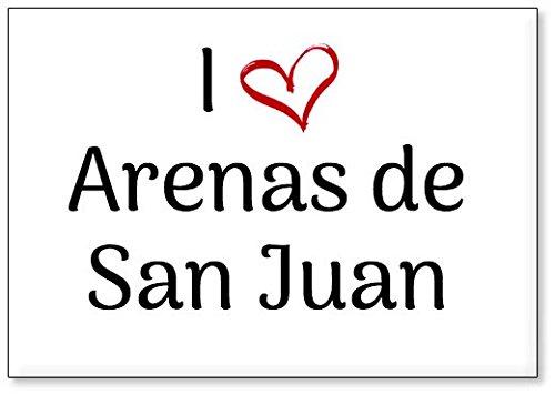 Mundus Souvenirs - Amo Arenas de San Juan, Imán para Nevera (diseño 1)