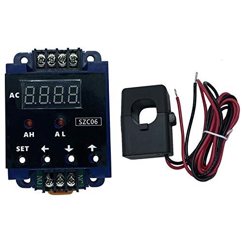Heritan SZC06 AC AmperíMetro Digital Rango de Medida LíMite Superior Inferior Retardo de Alarma DeteccióN de Relé AC1100220V 100A
