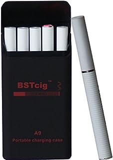 Cigarrillo Electrónico,Caja de carga portátil 900mAh BSTcig A9 / 2 * baterías de cigarrillos e 180mAh/ 5 cartomizadores desechables filtro/Mentol libre de nicotina 0mg/ml