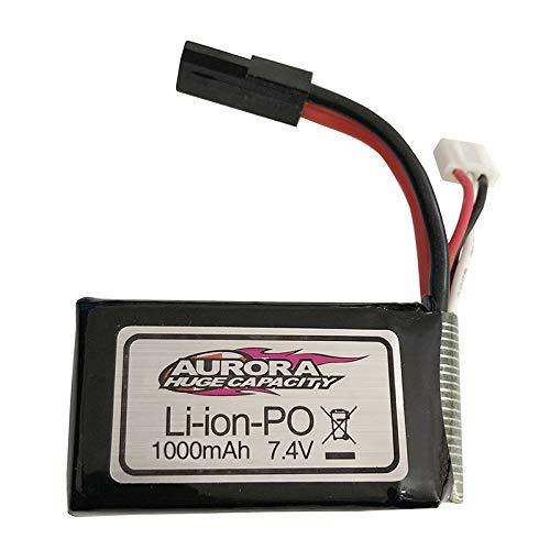 FairOnly 7,4 V 1000 MAH / 7,4 V 500 MAH Lipo Batterie für XLH Xin-le-Hong 9130 9136 9137 Q901 Q902 Q903 1/16 2,4G RC Autoteile 7,4 V 1000 mAh