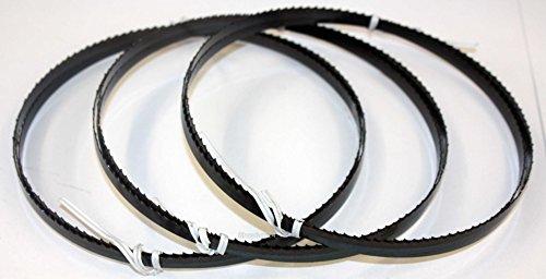3 x Standard Sägeband Bandsägeband Bandsägeblatt Sägebänder 2100 mm x 8 mm x 0,65 mm x 6 Zähne pro Zoll , für Holz , Hartholz , Brennholz , Sperrholz , Quer- und Schweifschnitte , für Maschinen wie : Scheppach HBS 32 Vario u.v.m.