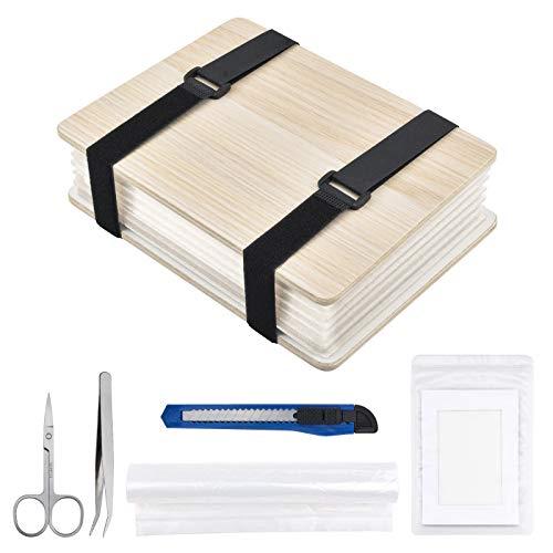 WANDIC Kit de prensa de flores, kit de arte de madera engrosada...