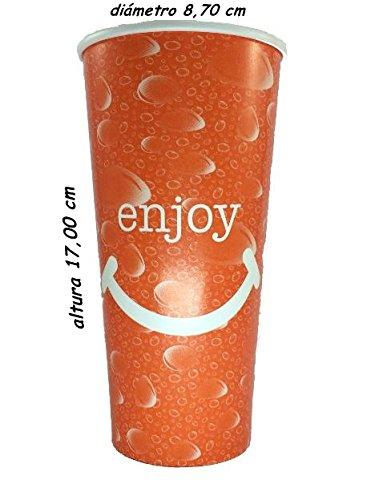 Sumicel Vaso de cartón para Bebida Fria 650 ml, Caja de 100