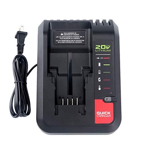 Lasica 20V MAX Battery Charger PCC692L PCC691L Compatible with Porter Cable 20V Max Lithium Ion Battery PCC680L PCC681L PCC682L PCC685LP PCC699L Black & Decker 20V Max Lithium Battery LBXR20 LBXR2020