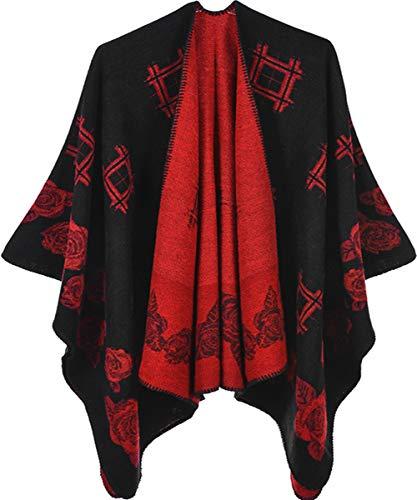 Shmily Meisje - Vrouwen Multifunctionele Sjaal Wrap Oversized Poncho Cape Reizen Airconditioning Deken Sjaal Pashmina Cardigans