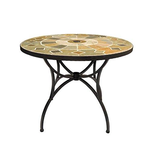 Europa Leisure Alicante Patio Table - 91 x 91 x 73 cm - Earthy Tones