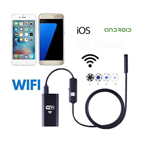 LJYNKJ WiFi Endoskop Kabelloses Inspektionskamera 1.3 Megapixel HD Halbsteife Kabel Boreskope Kamera für Android,IOS 3.5M