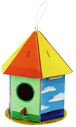 ROBOTIME 19 Pezzi Birdhouse 2 Puzzle 3D, Multicolore, Robo Time_F197
