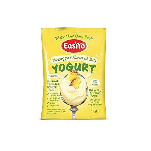Easiyo Ananas & Kokos mit Bits Premium-Joghurt-Mix 230g (Packung mit 6)
