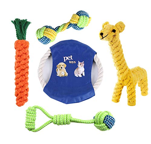 CakZoo Dog Rope Toys Puppy Chew Toys for Puppies Teething Small Dogs Pet Interactive Toys