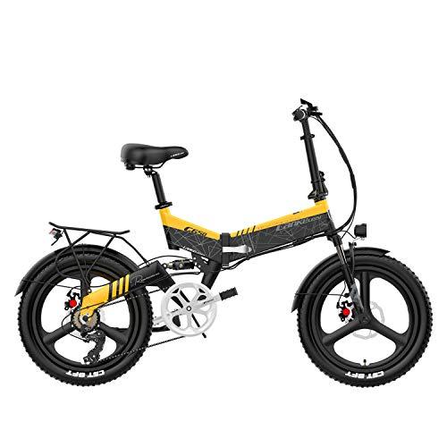 LANKELEISI G650 Bicicleta eléctrica Plegable de 20 Pulgadas 400W 48V 14.5Ah Batería...