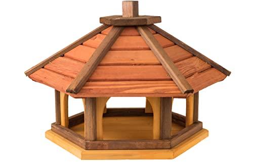 Vogelhaus wetterfest aus Holz, vogelfutterhaus, Futterhaus, Futterstation für Wildvögel, Vogelfutterhaus zum Stellen für den Garten, Balkon