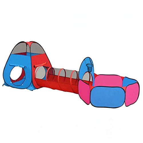 SHWYSHOP Tienda de campaña 3 en 1 para niños, con túnel de gateo, casa de juegos plegable y fácil de almacenar