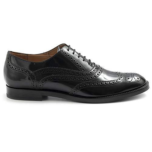 Fratelli Lippenstift Schuh Derby Damen schwarz aus Leder - 67090 PL75101 Lady Box schwarz - Größe, Schwarz - Schwarz - Größe: 40 EU
