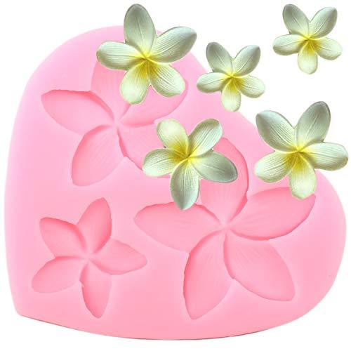 Frangipani Plumeria Blume Silikon Form DIY Puddding Desserts Cupcake Topper Dekoration Seife Form Kristall Gelee Shots Gum Paste Candy Schokolade Handgemachte Eiscreme Fondant Form