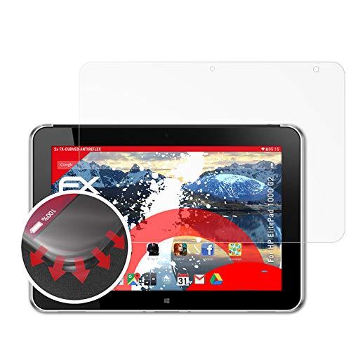 atFolix Schutzfolie kompatibel mit HP ElitePad 1000 G2 Folie, entspiegelnde & Flexible FX Bildschirmschutzfolie (2X)