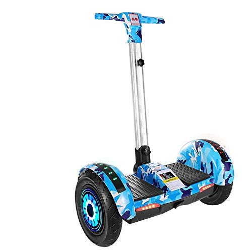 xiaoxioaguo Erwachsene Elektro Smart Cross Country Self Balancing Fahrzeug mit Handgehaltenen Stangen Zweirädern Erwachsene Kinder Schüler 10 Zoll Smart Balance somatosensorisches Fahrzeug