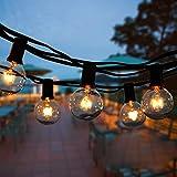 Guirlande Lumineuse Intérieur et extérieur,VIFLYKOO Guirlande Guinguette de 50+6 Ampoules étanche IP44 ampoule Décoration pour Patio,Café,Jardin,Parti,de noël,Vacances-Blanc Chaud