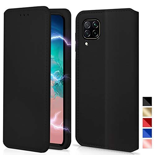 KONTARBOOR (Huawei P40 Lite) Hülle Handyhülle Magnetic Verschluss Tasche Leder Flip Hülle Brieftasche Etui Schutzhülle Cover (Schwarz) erhältlich***