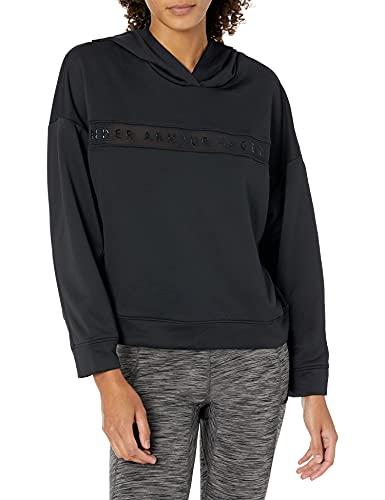 Under Armour Tech Terry Hoody T-Shirt Manches Longues Femme Noir FR : XL (Taille Fabricant : XL)
