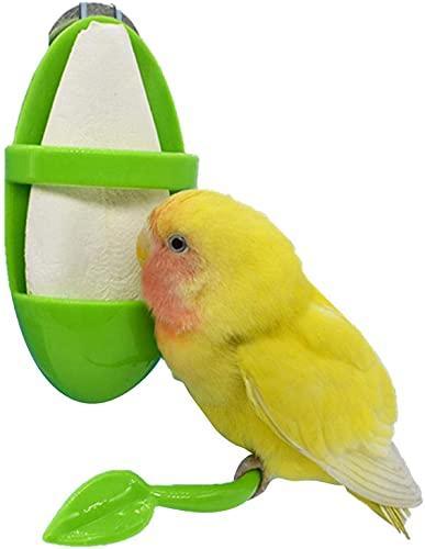Boisbresil 2PCS Accessori per Gabbie per Uccelli Mangiatoie per Pappagalli Mangiatoia per Uccelli Contenitore mMngiatoia per Uccelli Giocattolo da Appendere Mangiatoia per Uccelli Colonna