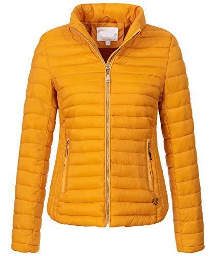 Rock Creek Damen Steppjacke Übergangsjacke Leicht Outdoorjacke Damenjacke Frauen Jacken Gesteppte Jacken Herbstjacke Jacke Weste D-427 Maisgelb S