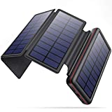 Solar Charger 26800mAh Power Bank, Portable Charger with 4 Solar Panels for Outdoor