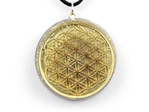 "Panotophia Orpanit® Orgonit Amulett Exclusive ""Blume des Lebens"" Selfhealing"