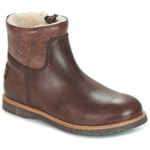 SHABBIES LOW STITCHDOWN LINED Enkellaarzen/Low boots meisjes Bruin Laarzen