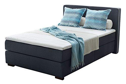 Möbel Jack Boxspringbett Polsterbett Doppelbett | 140x200 cm | Blau | Taschenfederkernmatratze