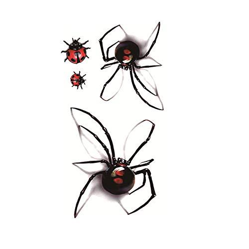 Kashyk 5PC Spinne Tattoo Aufkleber, personalisierte Insekt temporäre Tattoo Aufkleber, wasserdicht und langlebig, umweltfreundlich, ungiftig, Körperkunst, Junggesellenabschied, Make-up