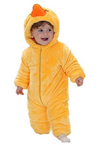 OHmais Bébé Fille garçon Unisexe Grenouillère Costume Deguisement Combinaison Pyjamas Hiver Canard