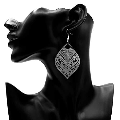 Ohrringe SILVER BEAUTY Blatt Feder silber lang 7 cm Damen