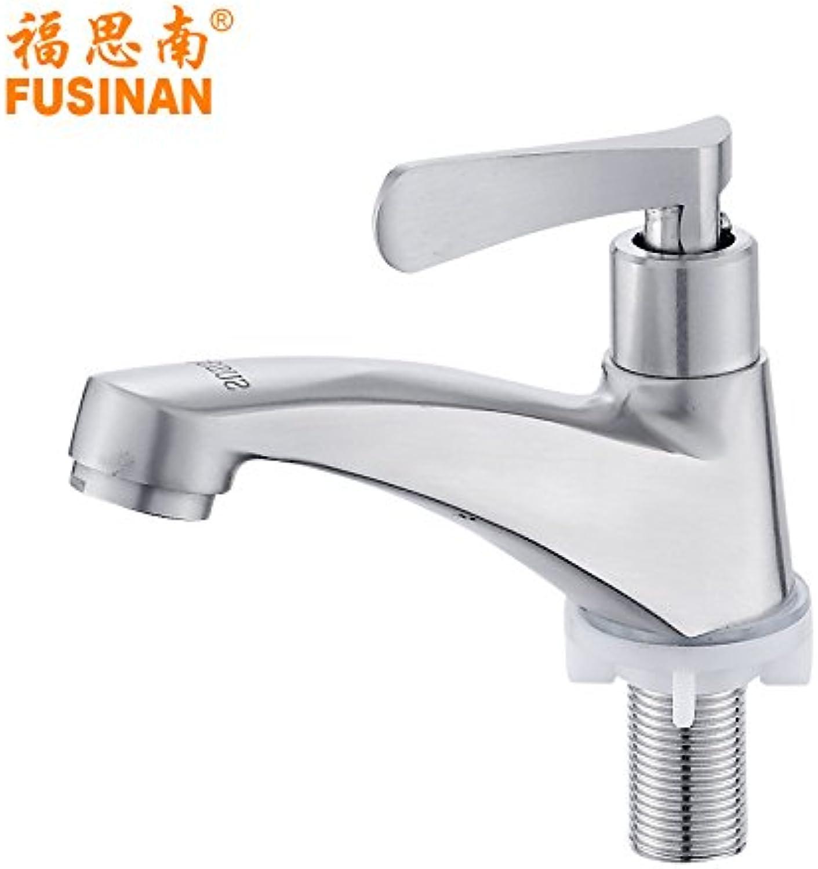 Bijjaladeva Antique Bathroom Sink Vessel Faucet Basin Mixer Tap Stainless steel basin mixer 304 single-basin sink mixer