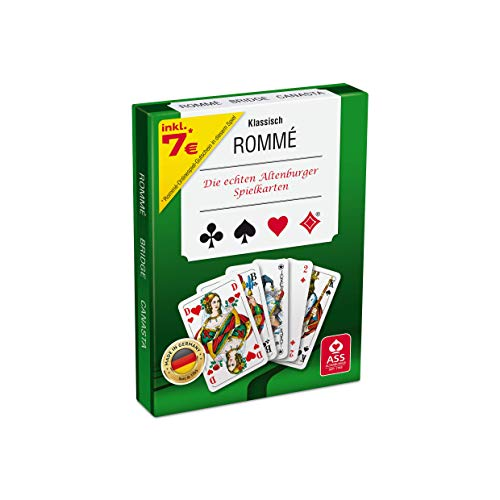 ASS Altenburger 22570071 - Kartenspiel Rommé in Stülpdeckelschachtel