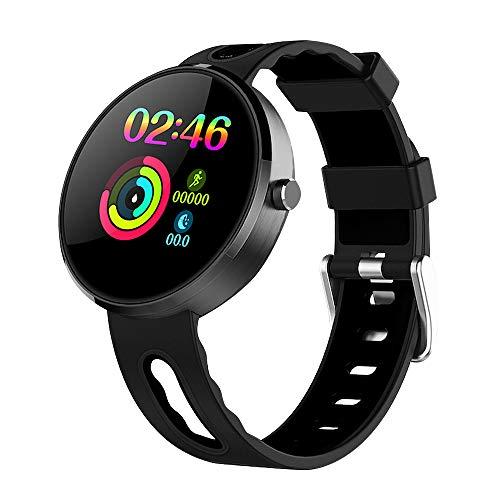 LEMONDA - Reloj inteligente azul IP68 actividad, monitor de sueño, frecuencia cardiaca, podómetro, para hombres y mujeres, compatible con Android iOS