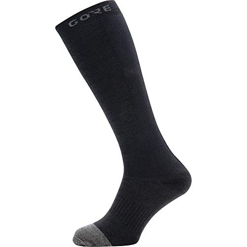 GORE WEAR M Thermo Calcetines largos unisex, Talla: 44-46, Color: negro/gris