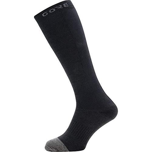 GORE WEAR M lange Unisex Thermo Socken, Größe: 44-46, Farbe: Schwarz/Grau