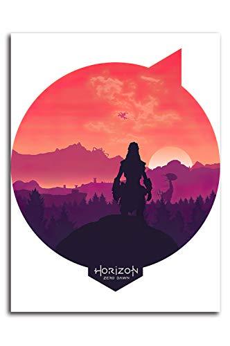 Póster de Horizon Zero Dawn con diseño moderno de 30 x 40 cm, para decoración de pared, oficina, decoración del hogar, sin marco