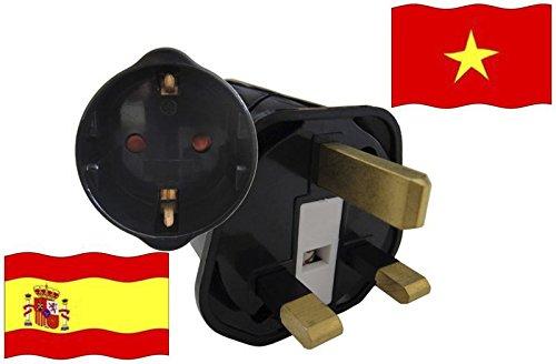 Urlaubs Reiseadapter Vietnam für Geräte aus Spanien Kindersicherung und Schutzkontakt 250V