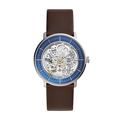 Fossil Men's Chase Automatic Three Hand Silver-Tone Stainless Steel Watch ME3162