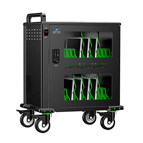 CX mobiele trolley voor het laden en opbergen, compact, mobiel, voor 32 tablets/Chromebook – meervoudige stekkerdoos en vergrendeling – ideaal voor scholen en ruimtes