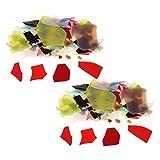 P Prettyia 56 / Pack Mix Couleurs Four À Confettis Verre Chips 90 COE Verre Coloré Pour Four À Micro-Ondes Fusing Fournir DIY Bijoux Making Accessoires