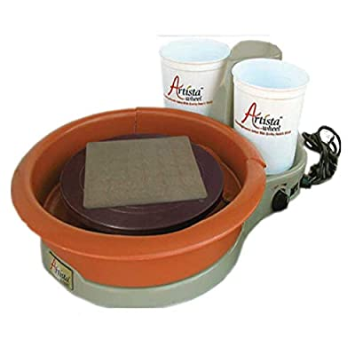 "25 lbs Centering Capacity ""Speedball Artista"" Portable Tabletop Pottery Wheel (11"") detail review"