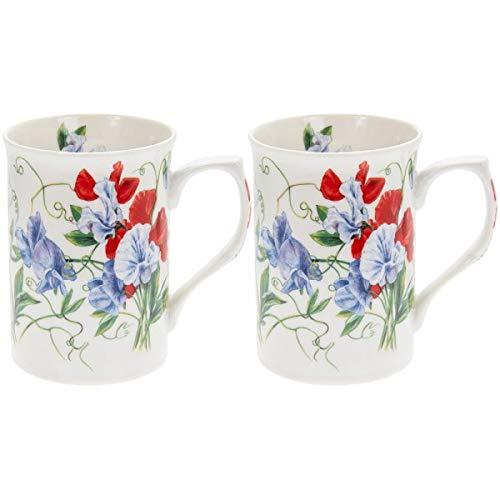 The Leonardo Collection LP93762 Lot de 2 tasses à pois de senteur, en porcelaine fine, multicolore, 12 x 8 x 11 cm
